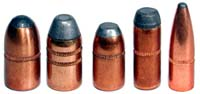 Examples of cannelured bullets